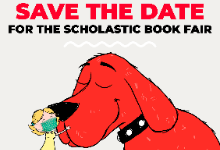 save the date for the scholastic book fair