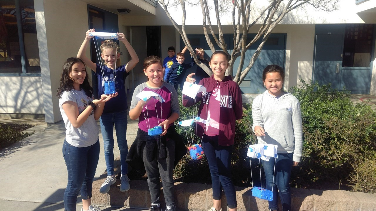 Science Olympiad  Students With Their Egg Drops